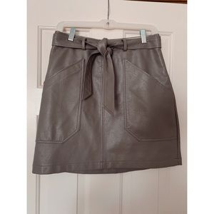 Bohme Faux Leather Skirt